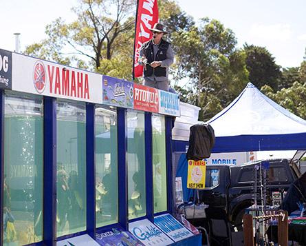 Geelong out door living show Yamaha display