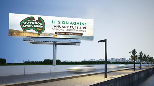 Geelong outdoor living show advertising billboard