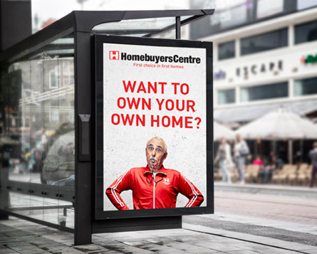 Homebuyers centre the Coach bus stop advertising