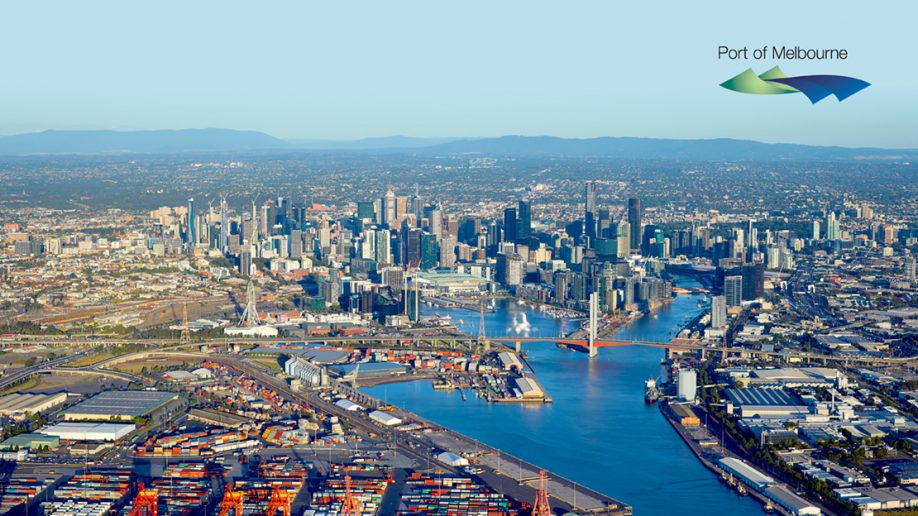 Port of Melbourne Arial photo of Melbourne