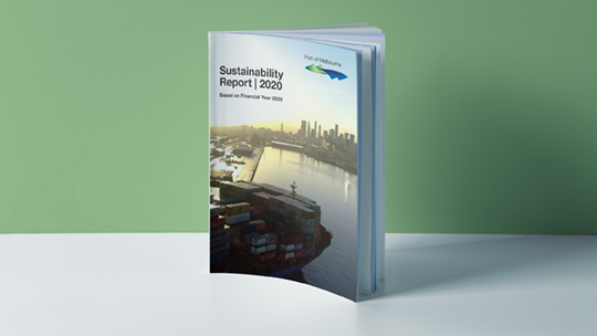 Port of Melbourne Sustainability Report Designed by BossMan Media